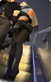 性感高挑黑丝短裙美女,性感迷人
