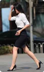 职业装包臀裙肉丝短裙高跟少妇