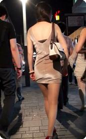 街拍,肉丝短裙美女