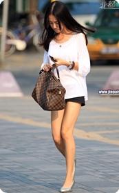 精致的长腿美女