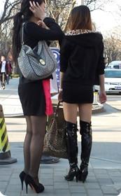 长靴美腿,街拍客