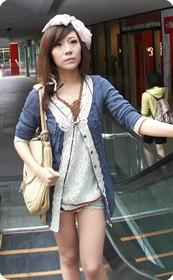 牛仔热裤,日式风格酷似日本人