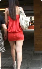 街拍视频系列短裙美女