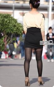 街拍紧身短裙