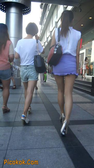 街拍,美女穿着又短又紧的裙子3