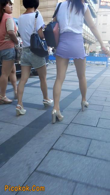 街拍,美女穿着又短又紧的裙子4