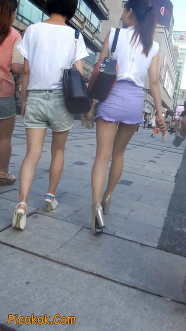 街拍,美女穿着又短又紧的裙子5