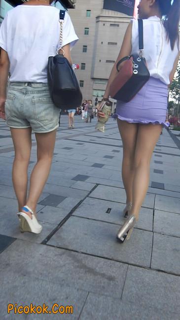街拍,美女穿着又短又紧的裙子6