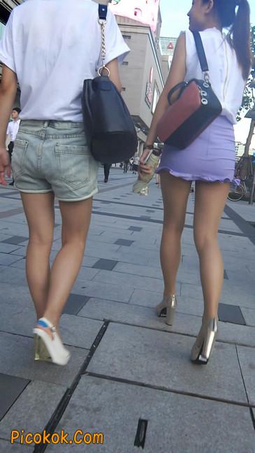 街拍,美女穿着又短又紧的裙子7