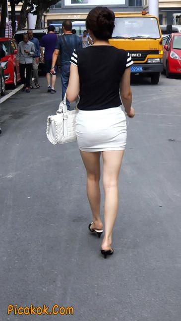极品紧身短裙少妇,短裙又紧又短,实在按捺不住8