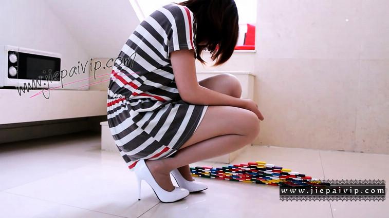 短片490-Vivian的清秀白色高跟鞋短片8