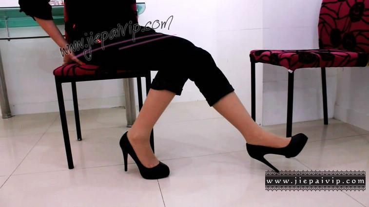 短片490-Vivian的清秀白色高跟鞋短片10