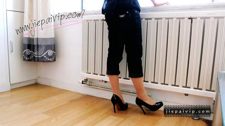 短片492-Vivian的浅口漆皮红底高跟鞋短片6