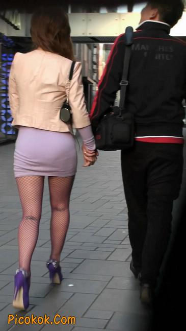 丝丝会紫色网袜的高跟极品美女2
