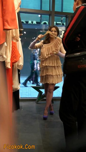 丝丝会紫色网袜的高跟极品美女5