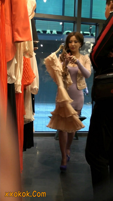 丝丝会紫色网袜的高跟极品美女6