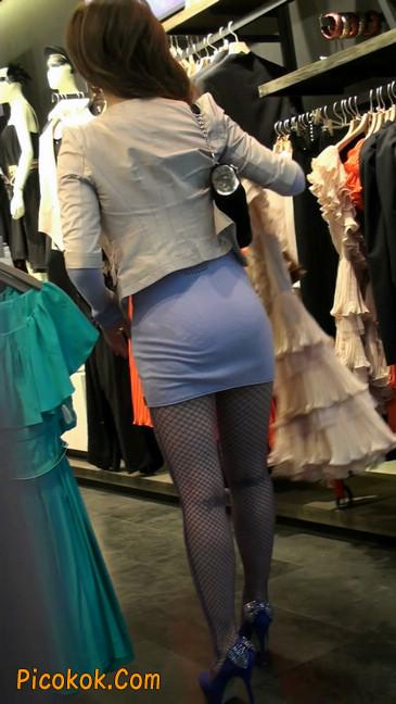 丝丝会紫色网袜的高跟极品美女13