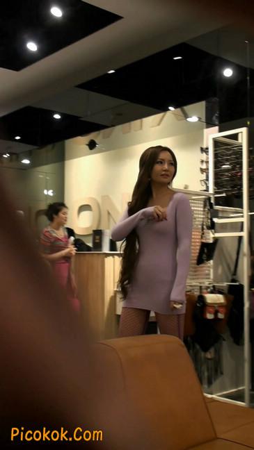 丝丝会紫色网袜的高跟极品美女24