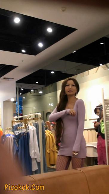 丝丝会紫色网袜的高跟极品美女25