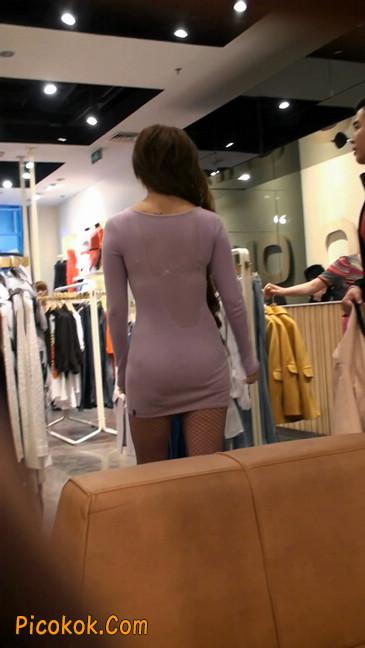 丝丝会紫色网袜的高跟极品美女26