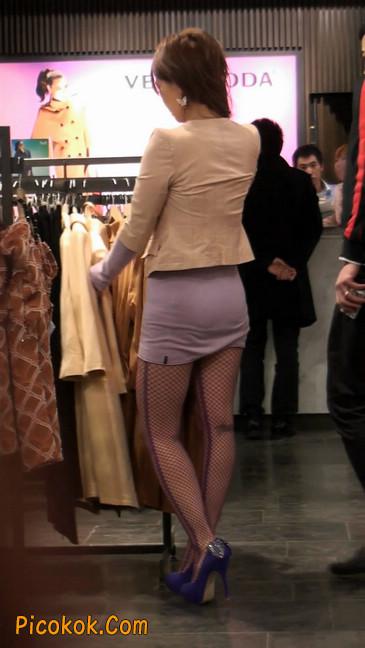 丝丝会紫色网袜的高跟极品美女32
