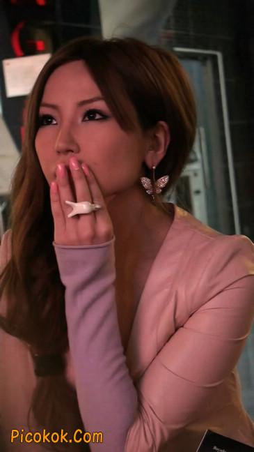 丝丝会紫色网袜的高跟极品美女40