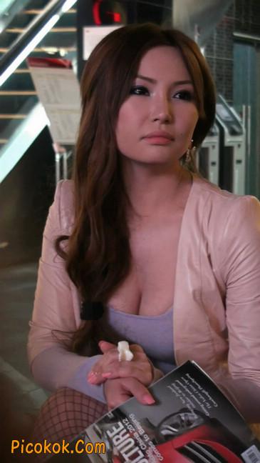 丝丝会紫色网袜的高跟极品美女43