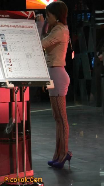 丝丝会紫色网袜的高跟极品美女62
