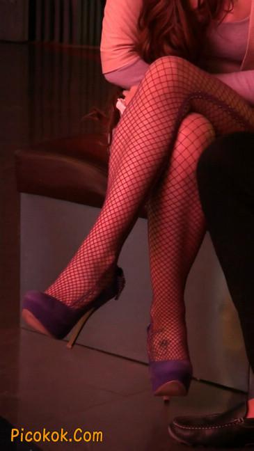 丝丝会紫色网袜的高跟极品美女81