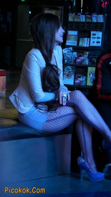 丝丝会紫色网袜的高跟极品美女102