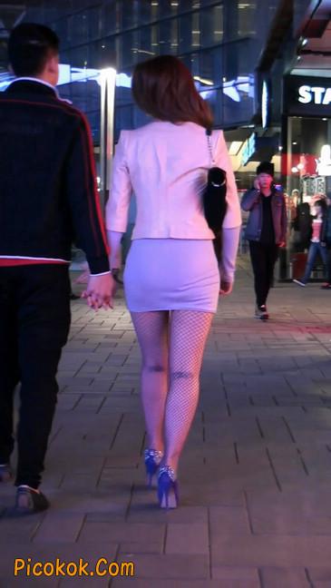丝丝会紫色网袜的高跟极品美女108