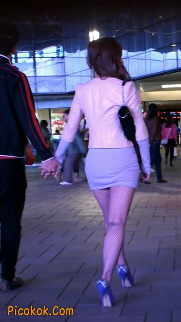 丝丝会紫色网袜的高跟极品美女109