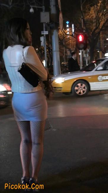 丝丝会紫色网袜的高跟极品美女113