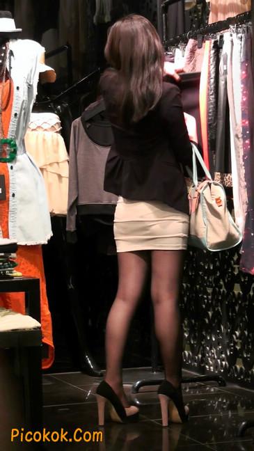 黑丝短裙紧身包臀的清纯美女,实际上并不清纯31