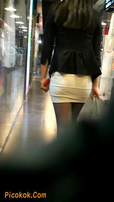 黑丝短裙紧身包臀的清纯美女,实际上并不清纯34