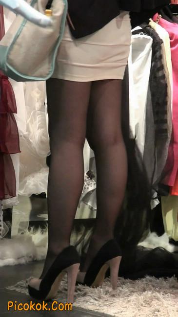 黑丝短裙紧身包臀的清纯美女,实际上并不清纯41
