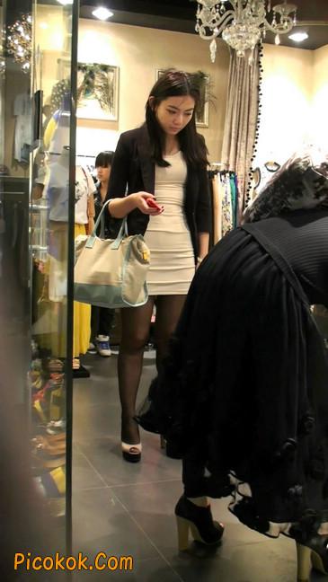 黑丝短裙紧身包臀的清纯美女,实际上并不清纯49