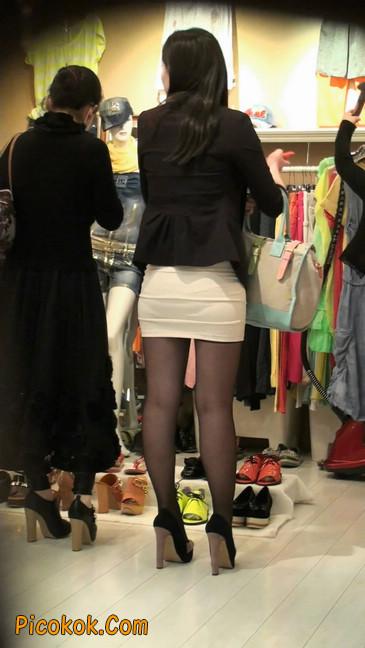黑丝短裙紧身包臀的清纯美女,实际上并不清纯50