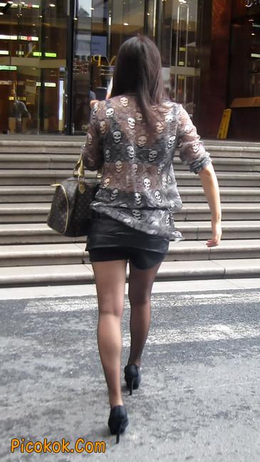 黑丝高跟短裙少妇,性感透视装11