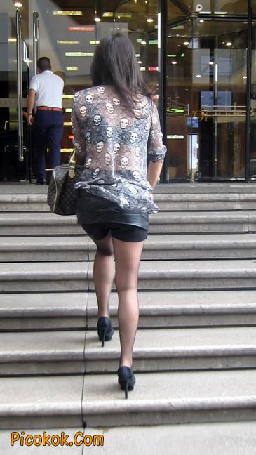 黑丝高跟短裙少妇,性感透视装14