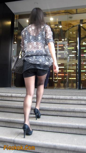黑丝高跟短裙少妇,性感透视装15