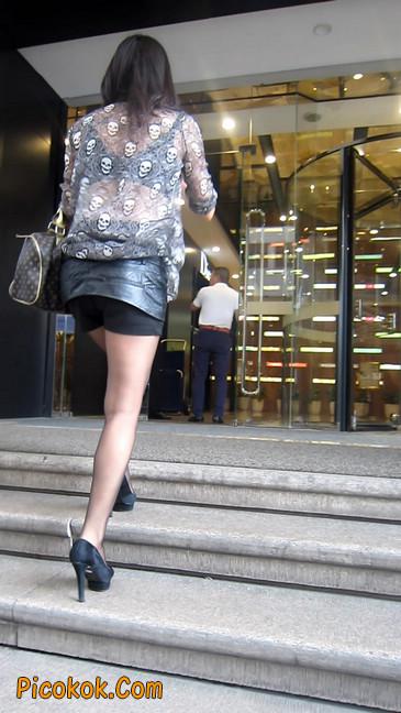 黑丝高跟短裙少妇,性感透视装16
