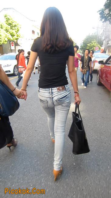 街拍,紧身牛仔裤,男人的尤物18