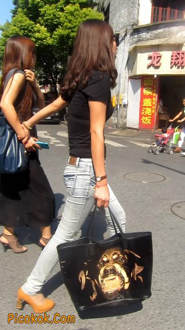 街拍,紧身牛仔裤,男人的尤物21