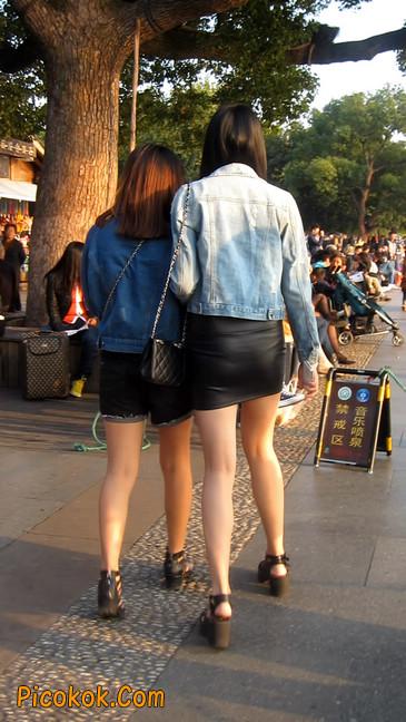 皮质小热裤美女绝对经典这身材太赞了5