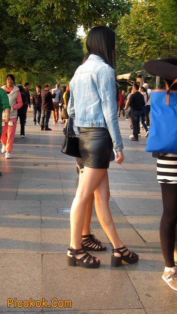 皮质小热裤美女绝对经典这身材太赞了11