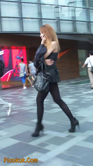 街拍长腿美女1