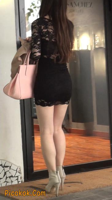 裙子很短的性感美女少妇42