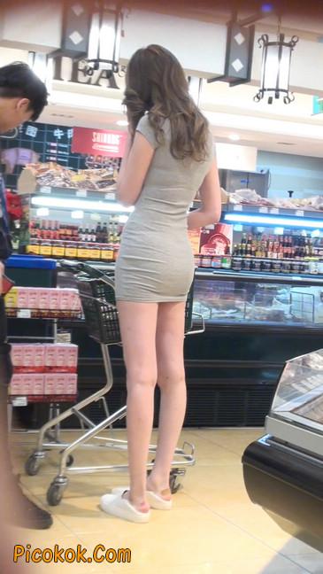 街拍极品超短裙气质网红美女41