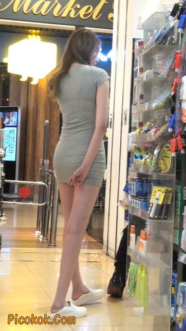 街拍极品超短裙气质网红美女55